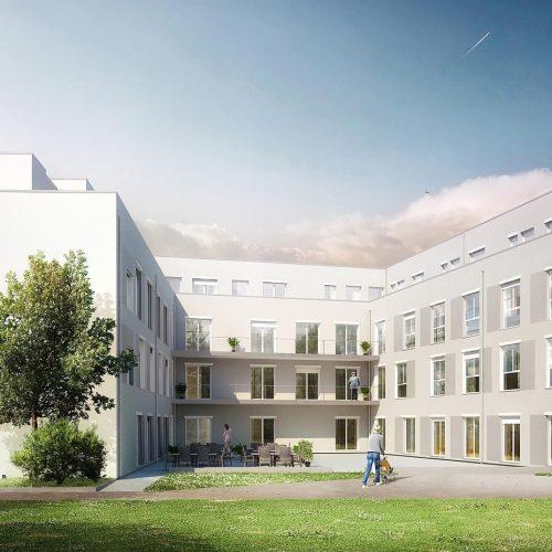 Pflegeimmobilie Pulheim, Innenhof