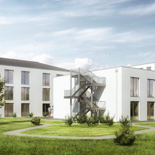 Seniorenzentrum Gau Odernheim, hell und freundlich, Pflegeimmobilien, Außenansicht
