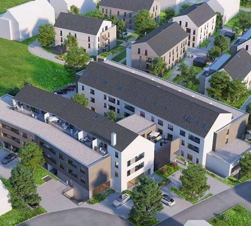 Ansicht Oben Pflegeimmobilien Bad Gögging, Neubau, Seniorenheim,Wohnpark