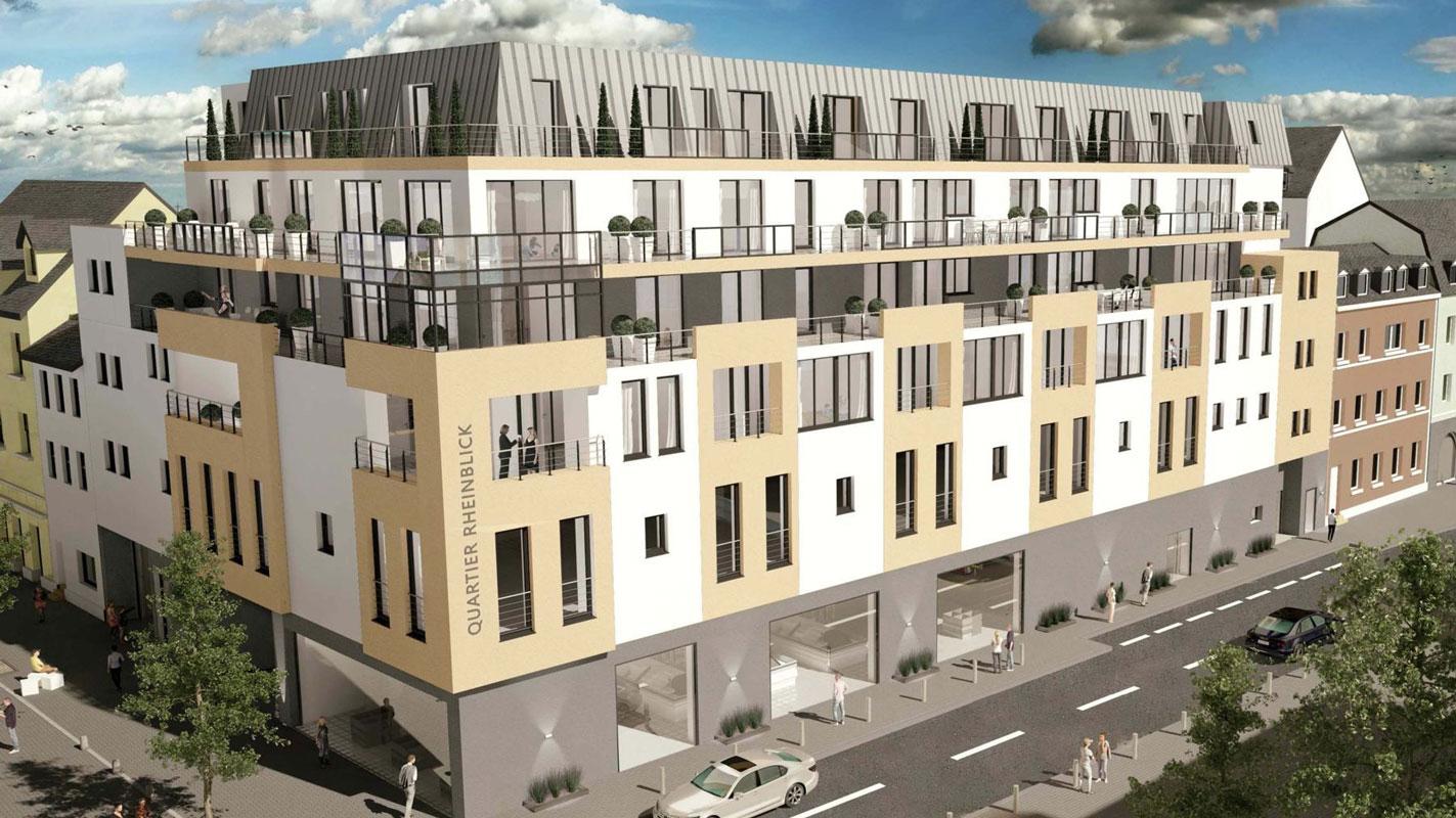 Quartier Rheinblick Visualisierung komplett