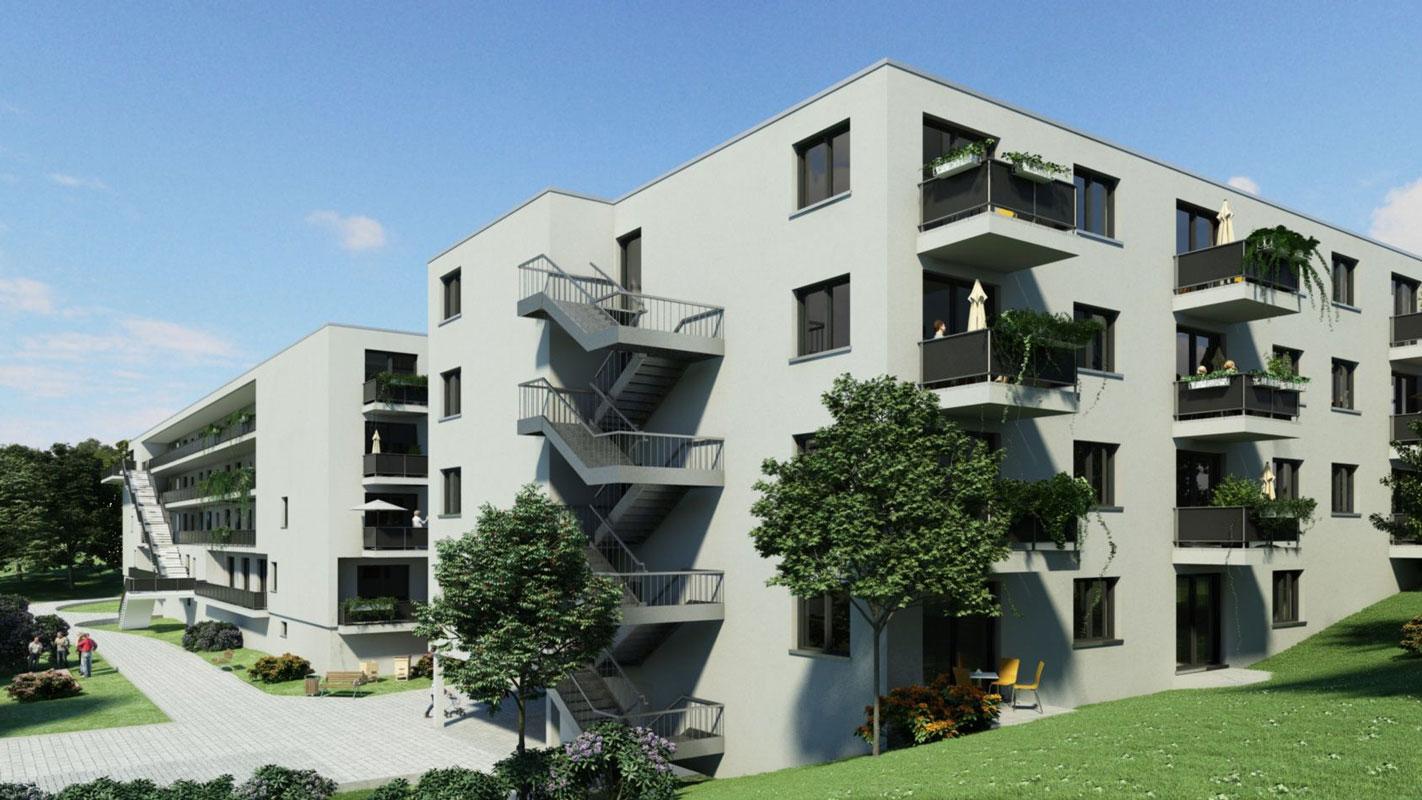 moderne Balkonsituation Bad Bergzabern 2 II Pflegeheim seniorenwohnen Wohnpark