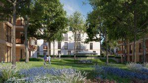 Blick in den Park Alsdorf, betreutes Wohnen, Service Wohnen, Pflegeimmobilien