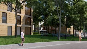 Seitenansicht betreutes Wohnen, modern und hell, Pflegeimmobilien Alsdor
