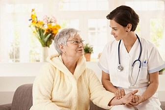Pflegepersonal, Bewohner, glücklich
